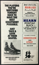 Load image into Gallery viewer, 1973 Maple Leaf Gardens OHA Hockey Program Toronto Marlboros vs Ottawa 67's