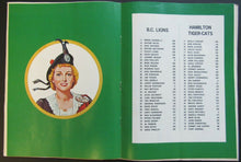 Load image into Gallery viewer, 1972 Empire Stadium CFL Program + Tiger Cats Yearbook Hamilton vs BC Lions Mosca