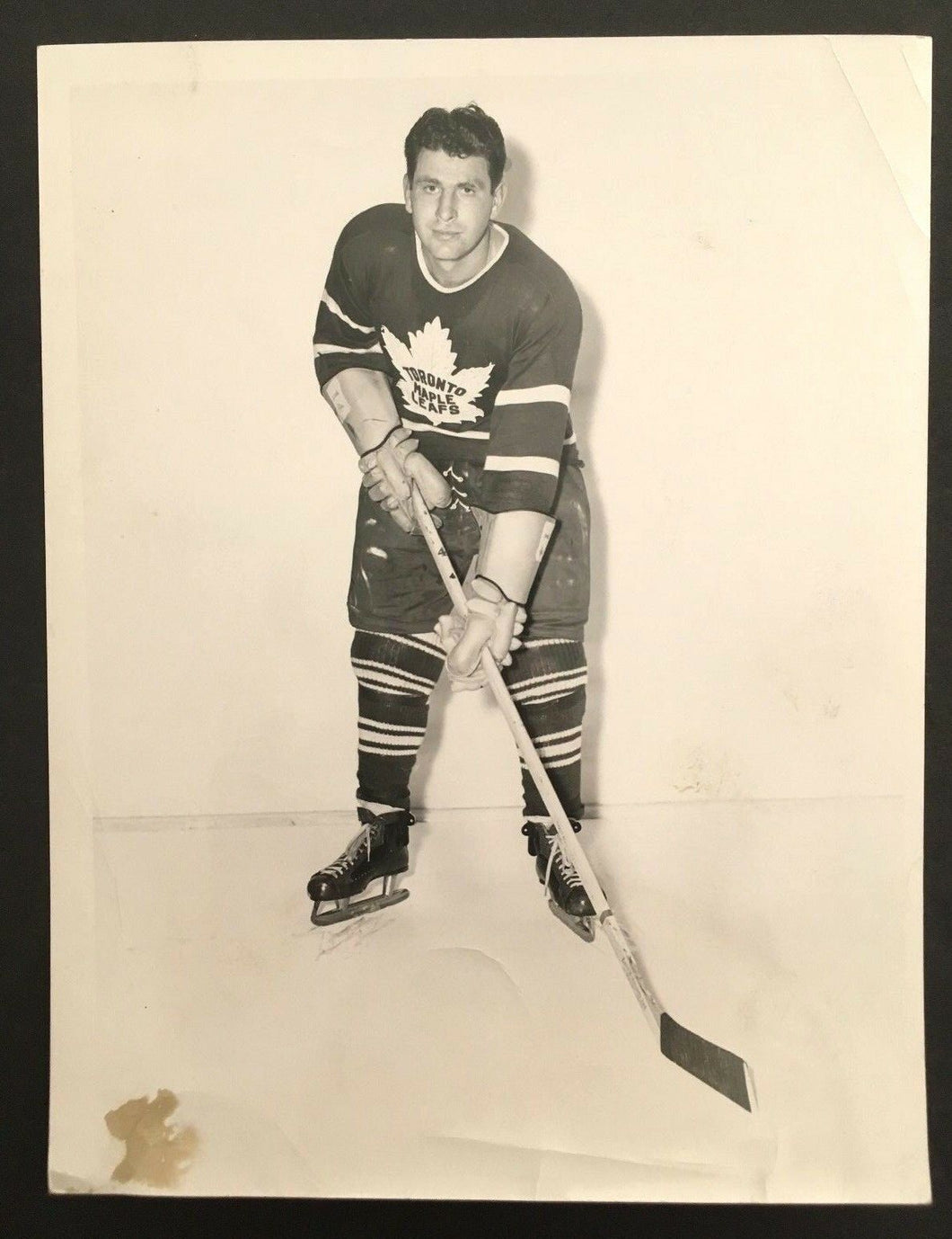 1949 Toronto Maple Leafs Vic Lynn Turofsky Photo Vintage Hockey NHL