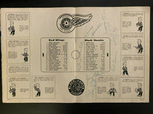 Load image into Gallery viewer, 1962 NHL Signed Hockey Program Detroit Red Wings Autographed Lindsay Mikita + 5