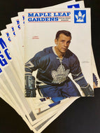 1960s NHL Hockey Toronto Maple Leaf Gardens Program Covers (20) Vintage Leafs