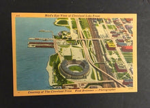 Load image into Gallery viewer, 1950 Postcard Cleveland Municipal Baseball Stadium Post Card Birds eye View