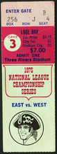 Load image into Gallery viewer, 1975 NLCS MLB Game 3 Ticket Three Rivers Stadium Pirates v Reds Pete Rose HR