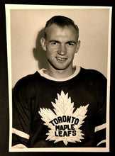 Load image into Gallery viewer, 1958 Toronto Maple Leafs Dave Creighton Turofsky Photo Vintage Hockey NHL