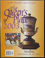 2004 Queens Plate Horse Racing Program Signed Patrick Husbands Autographed