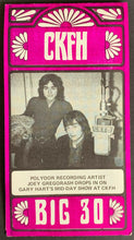Load image into Gallery viewer, 1971 CKFH Radio Survey Record Chart Toronto Music 3 Dog Night The Bells