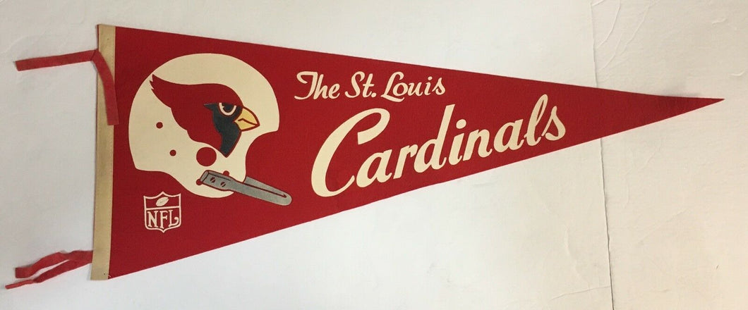 1960's The St. Louis Cardinals NFL Pennant Vintage Football Full Size 29