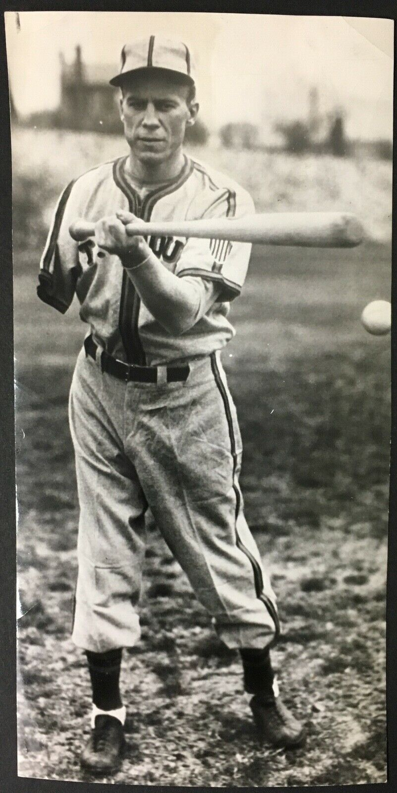 1945 Pete Gray Batting Wire Photo One Armed Major League Baseball St Louis Brown