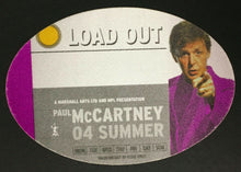 Load image into Gallery viewer, Paul McCartney Backstage Summer Tour Concert Backstage Crew Pass 2004 Beatles