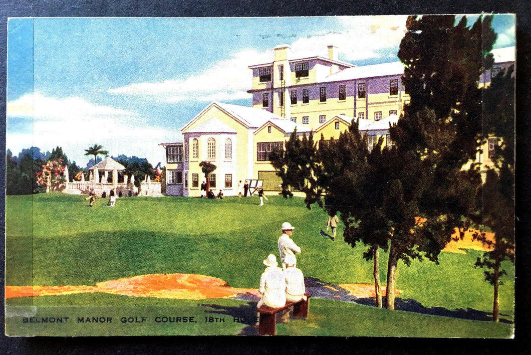 1915 Belmont Manor Golf Course Bermuda Postcards