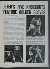 Load image into Gallery viewer, 1966 The Ring Vintage Boxing Magazine - Clay At Crossing Muhammad Ali Tiger Eyes