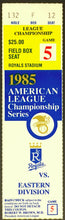 Load image into Gallery viewer, 1985 ALCS Championship Series MLB Game 5 Ticket Kansas City Royals vs Blue Jays
