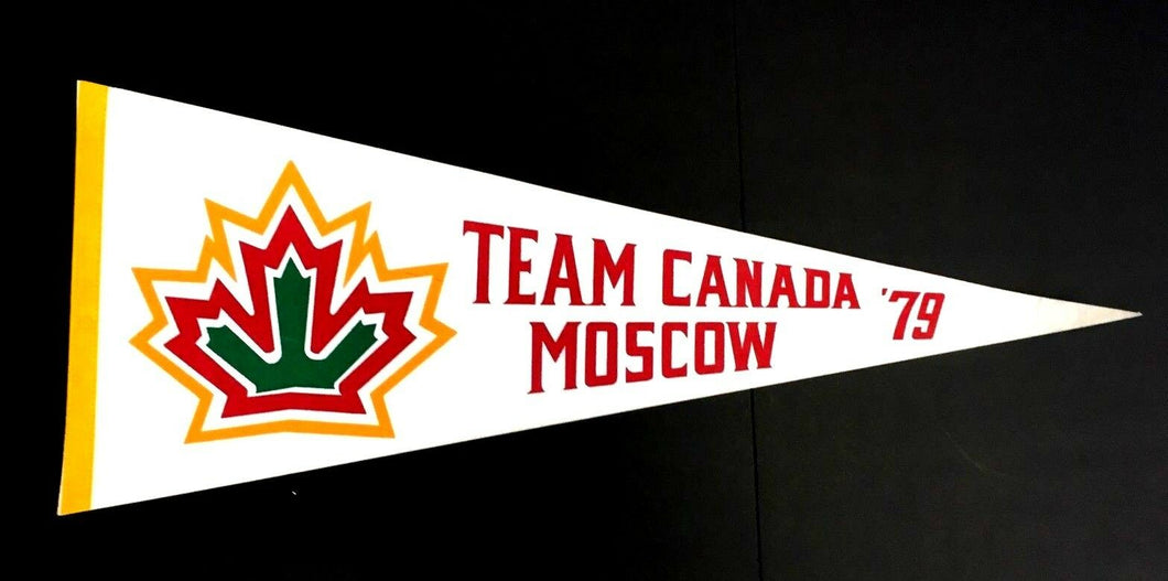 1979 Team Canada Vs Moscow Pennant Vintage Hockey Full Size 29