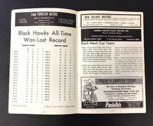 Load image into Gallery viewer, 1965 NHL Stanley Cup Semi Final Program Chicago Blackhawks Detroit Red Wings