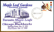 1999 Final Game Maple Leaf Gardens First Day Cover Envelope Vtg Hockey Toronto
