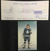 Load image into Gallery viewer, 1976 Maple Leaf Gardens Donald Crump Signed Cheque To George Ferguson NHL Player