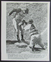 Load image into Gallery viewer, 1962 Wrigley Field Pittsburgh Pirates vs Chicago Cubs Wire Photo Baseball Vtg
