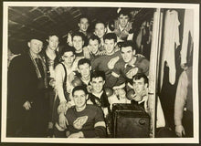 Load image into Gallery viewer, Vintage NHL Hockey Photo Detroit Red Wings Team Picture with HOFer Terry Sawchuk