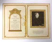 Load image into Gallery viewer, 1927 Thomas Ahearn Esq Honor Dinner Program Held At Ottawa Ontario Country Club