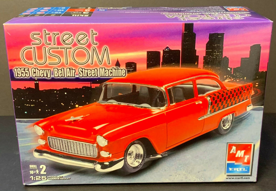 AMT ERTL 1955 Chevy Bel Air Street Machine Scale 1:25 Model Car Kit Vintage