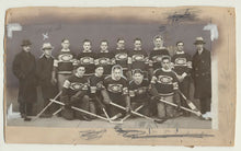 Load image into Gallery viewer, 1929-30 Original Senior MONTREAL CANADIENS Hockey Photo Rare Old Vtg + Newspaper