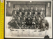 Load image into Gallery viewer, 1962-63 Vintage New York Rangers NHL Hockey Team Photo Signed 17 Autographs LOA