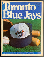 1977 Toronto Blue Jays 1st Franchise Game Program Autographed Signed Cover x4