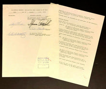 Load image into Gallery viewer, 1978 Colorado Rockies NHL Hockey Original Contract Addendum PAUL GARDNER Signed