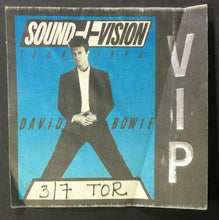 Load image into Gallery viewer, 1991 David Bowie Sound + Vision Concert Tour VIP Backstage Pass SkyDome Toronto