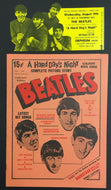 1964 Beatles Ticket A Hard Days Night Movie + Complete Picture Story Fab 4