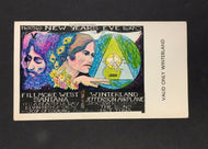 12/31/1969 Jefferson Airplane Concert Full Ticket Winter Land Hot Tuna New years