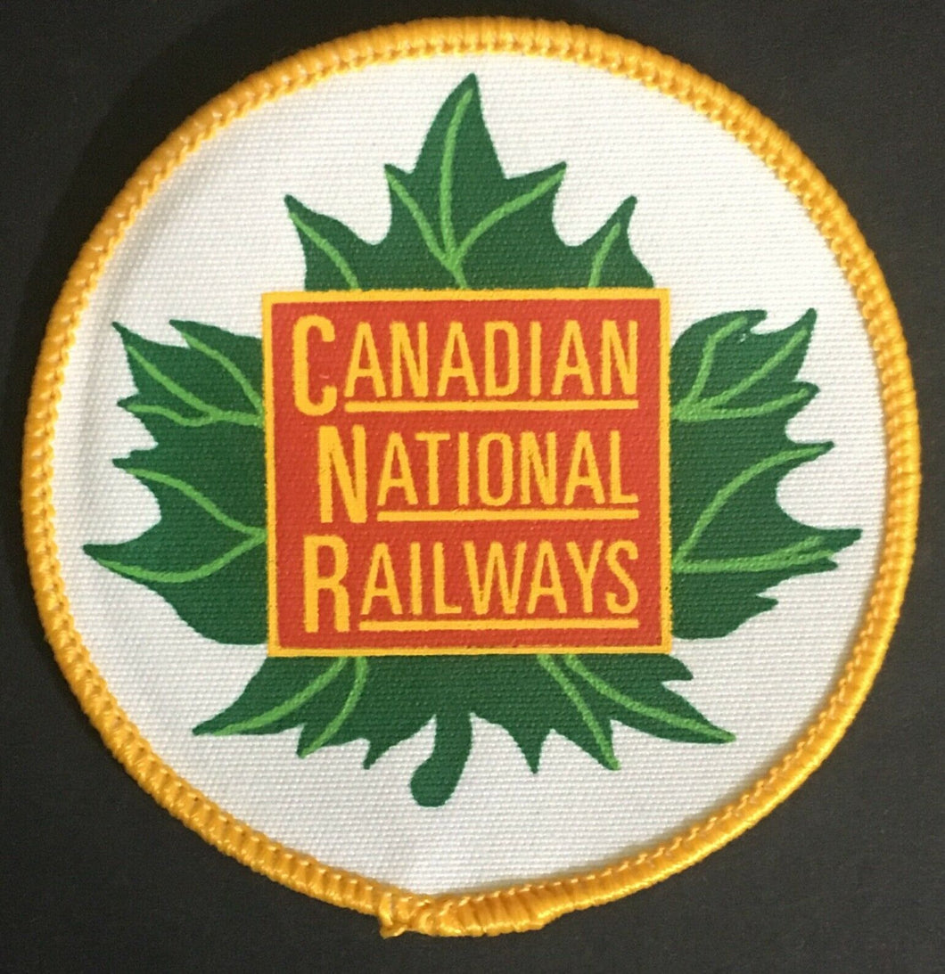 Vintage Canadian National Railways Sew On Patch Crest Maple Leaf Unused Canada