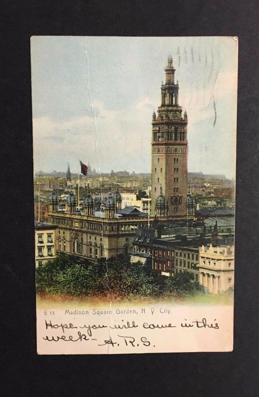 1906 Madison Square Gardens Postcard Brooklyn New York rare Image Rangers Home