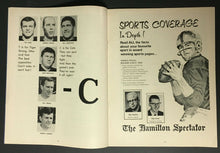 Load image into Gallery viewer, 1968 CFL Football Program Hamilton Tiger-Cats Vs Winnipeg Blue Bombers Unscored