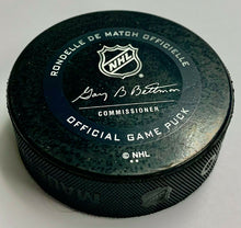 Load image into Gallery viewer, 2020 Bruins Game Used Playoff Puck Thermochromic Coating Color Changing NHL