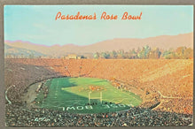 Load image into Gallery viewer, 1969 Pasadena's Rose Bowl Postcard Ohio State Champion Players Football Vintage