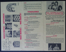 Load image into Gallery viewer, 1970 Playback Record Industry Newsletter + Concert List Advertising Promo VTG