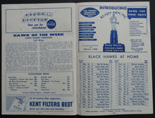 Load image into Gallery viewer, 1959 Chicago Stadium NHL Program Chicago Blackhawks vs Toronto Maple Leafs