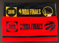 2019 NBA Finals Toronto Raptors + GS Warriors Game Used Players Bench Towels