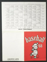Load image into Gallery viewer, 1968 MLB Baseball American National International Game Schedules Vintage