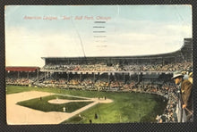 Load image into Gallery viewer, 1911 American League Ball Park Postcard Chicago White Sox Comiskey Park MLB