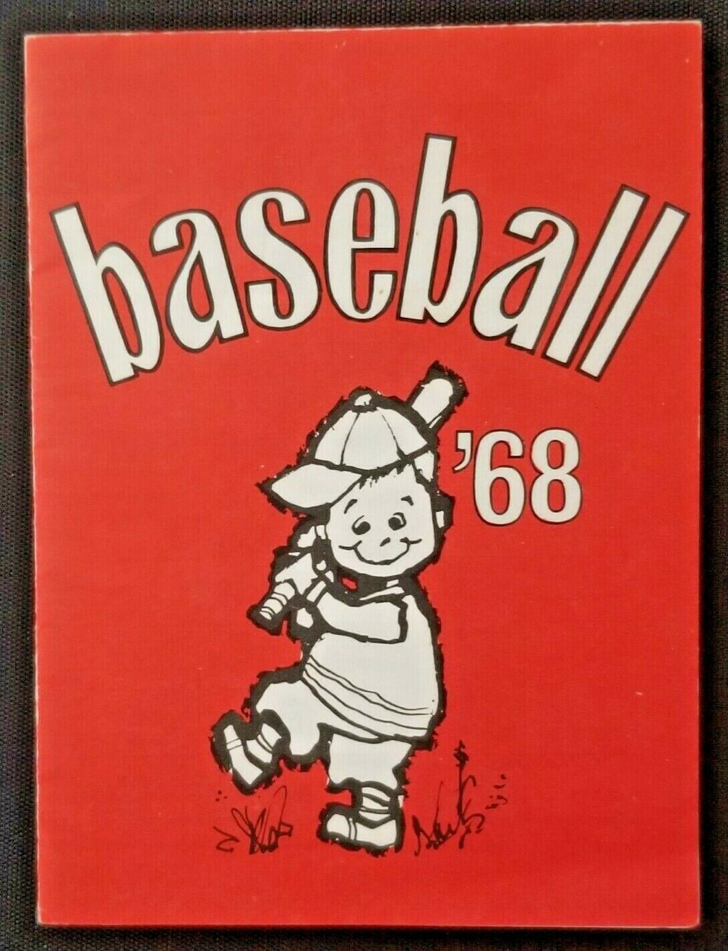 1968 MLB Baseball American National International Game Schedules Vintage