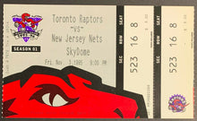 Load image into Gallery viewer, 1995 Toronto Raptors Inaugural Opening Night Ticket 1st Game Franchise History
