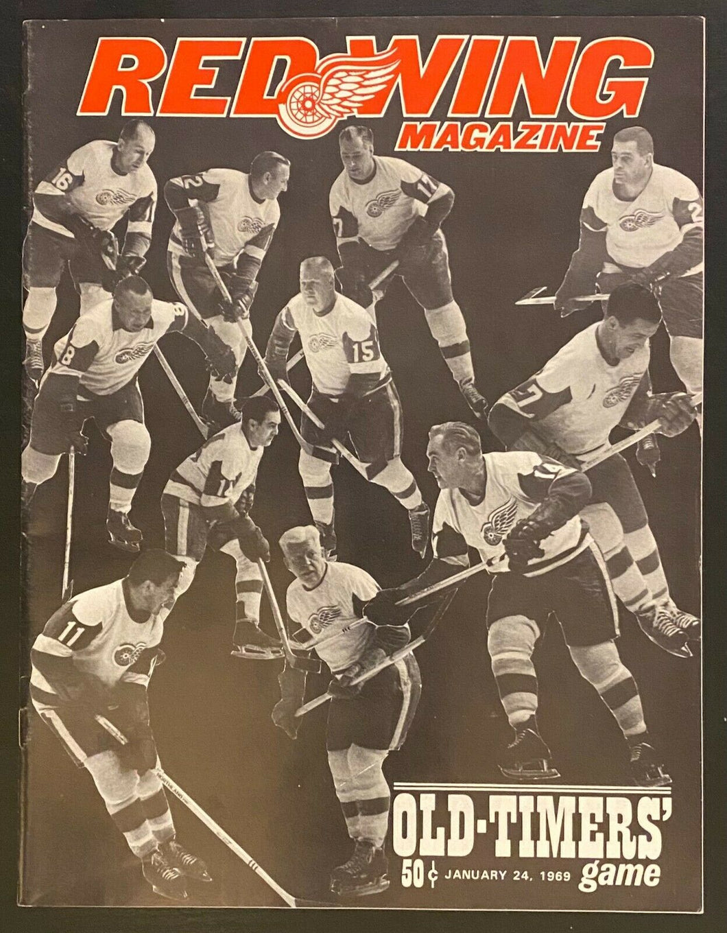 1969 NHL Hockey Program Detroit Red Wings Toronto Maple Leafs Old Timers Game