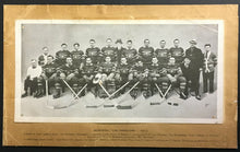 Load image into Gallery viewer, 1937 CROWN BRAND Montreal Canadiens Hockey Team Photo Card Vintage Old Card NHL