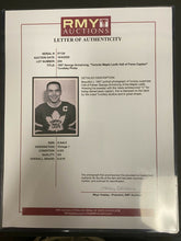 Load image into Gallery viewer, 1957 Vtg Turofsky NHL Toronto Maple Leafs Hockey HOF George Armstrong Photo LOA