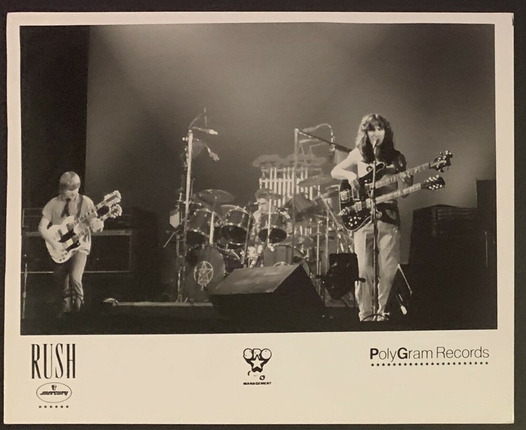 1970's Rush Geddy Lee / Neal Peart / Alex Lifeson Original Studio Photo Vintage