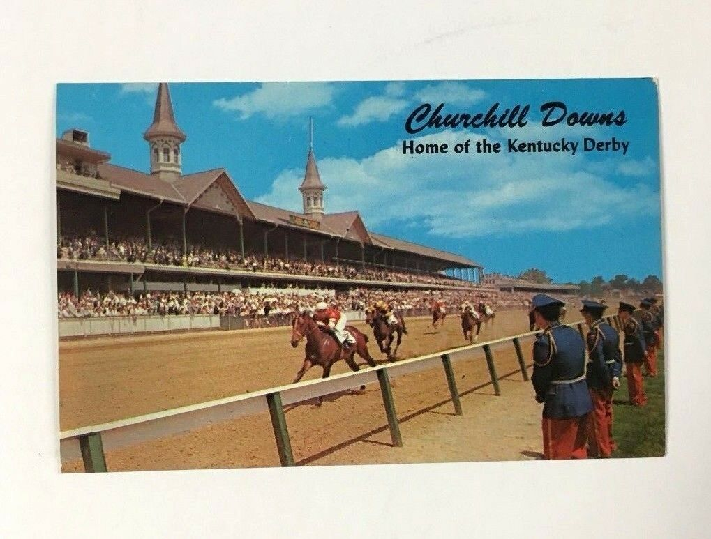 1960 Kentucky Derby Postcard Churchill Downs Louisville Vintage Horse Racing