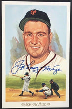 Load image into Gallery viewer, Johnny Mize HOF Autographed Signed Baseball Postcard Vtg Post Card Perez Steele
