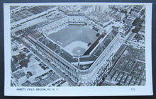 Load image into Gallery viewer, Circa 1940s Vintage Ebbets Field Postcard Baseball MLB Brooklyn Dodgers